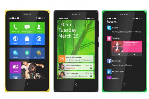 Nokia X, Nokia X+ & Nokia XL
