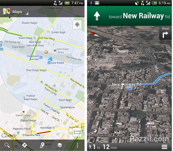 Google Maps Navigation India