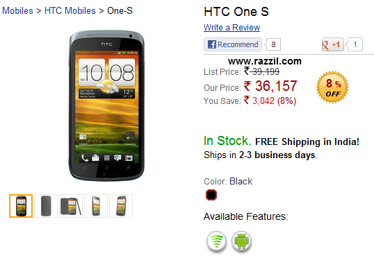 HTC One S India
