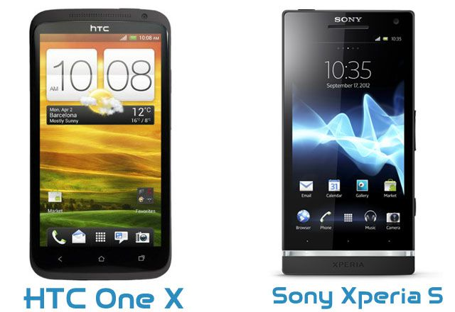 HTC One X vs Sony Xperia S