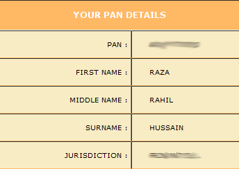 know your pan card no online